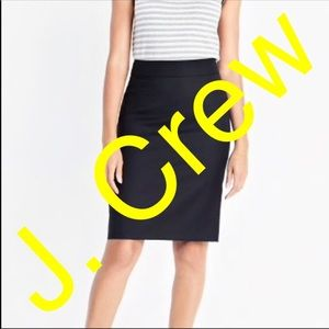 J. Crew black pencil skirt sz 8